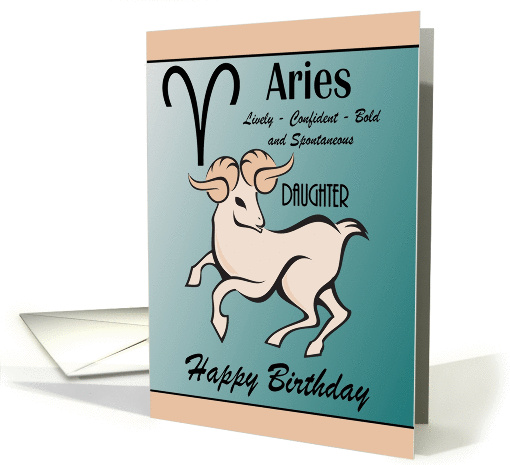Daughter / Aries Birthday - General - Zodiac Sign / Sheep card