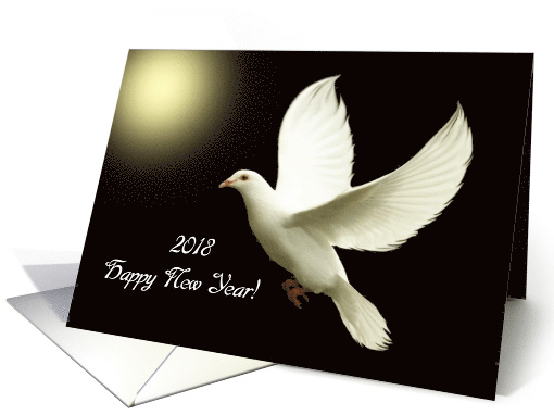 2018 Happy New Year / White Dove card (271751)