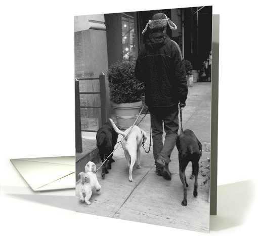 Dog Walker Birthday card (467875)