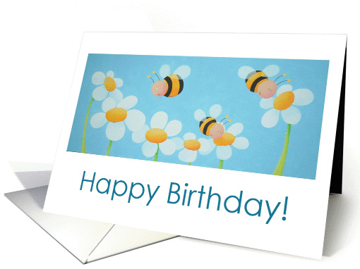 Happy Birthday Bee card (274238)