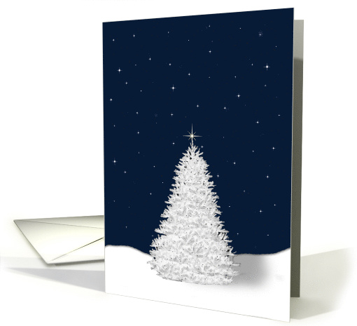 White Pine Tree Christmas Remembrance card (1504186)