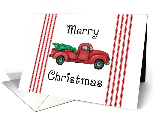 Vintage Red Truck Christmas card (1584998)
