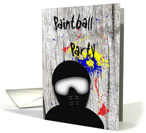 Paintball Party Invitation card (703059)
