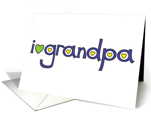 i heart grandpa card (433393)
