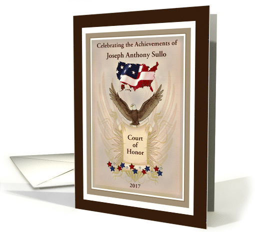 Eagle Scout Court of Honor Ceremony Invitation card (599611)