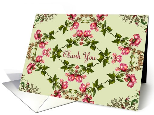 Thank You for the Shower Gift, Victorian style card (657365)