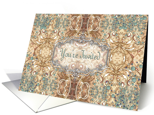 You're Invited Victorian Design card (661606)