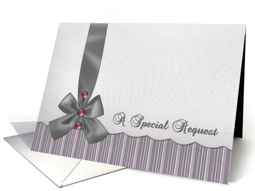 Be in my Wedding Invitation - Stripes and Solids - Linen look card