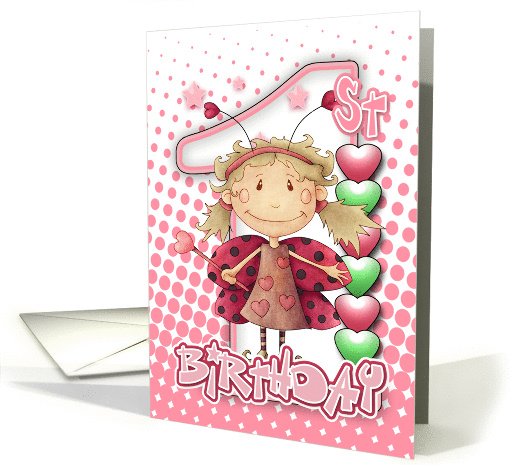 1st Birthday Card With Little Fairy All In Pinks card (1021471)