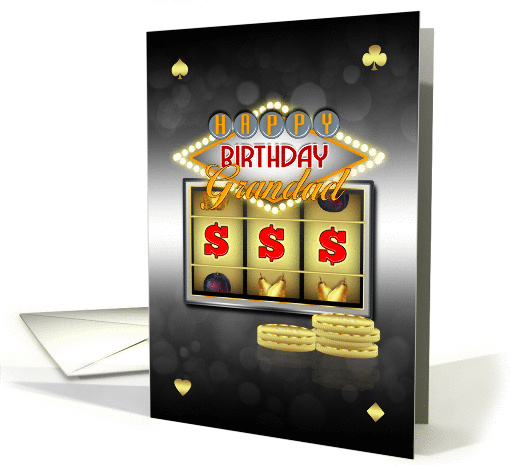 Grandad Birthday Greeting Card With Slots And Coins card (1118352)