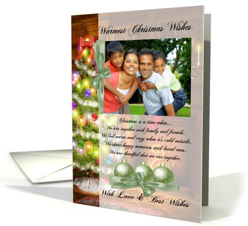 photo christmas card with christmas tree card (858843)