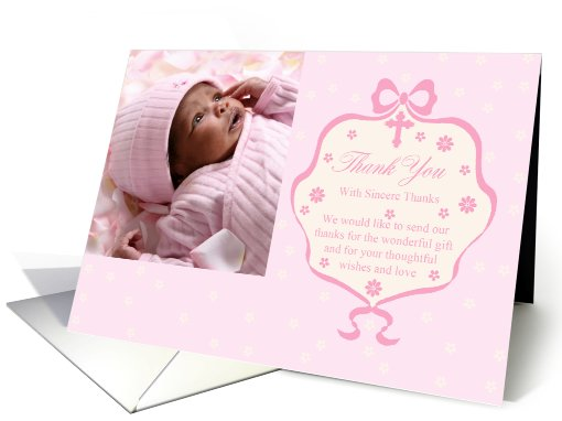 new baby thank you for the gift photo card (890360)