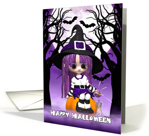 Cute Witch Halloween card (950430)