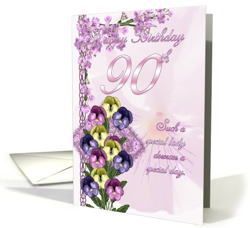 90th Birthday Card For A Special Lady card (525758)