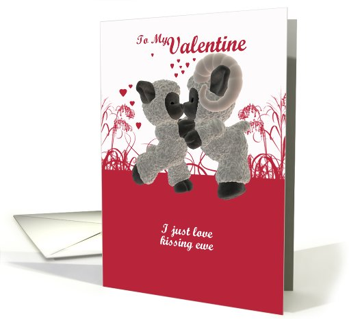 Valentine's Day Card With Cute Kissing Sheep card (554896)