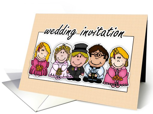 Marriage Invitation - Wedding Invitation Card With Bride... (646323)