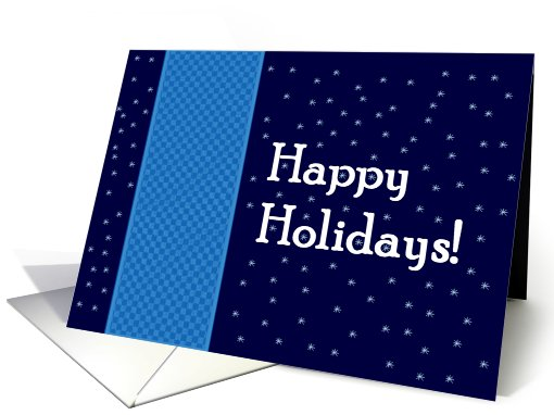 Happy Holidays with Snowflakes card (487614)