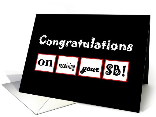 Congratulations on Receiving your SB card (633946)