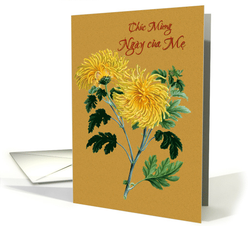 Vietnamese Mother's Day with Yellow Chrysanthemums card (1520502)