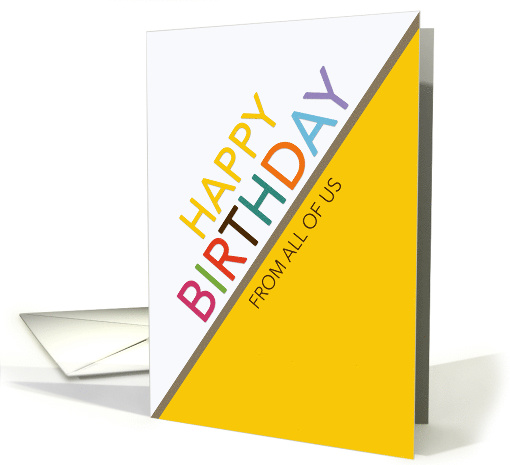 From All of Us Birthday Multicolor Letters White and... (1568040)