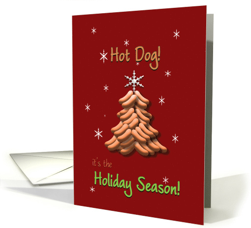 Christmas Business Hot Dog Tree with Star Happy Holidays card (709315)