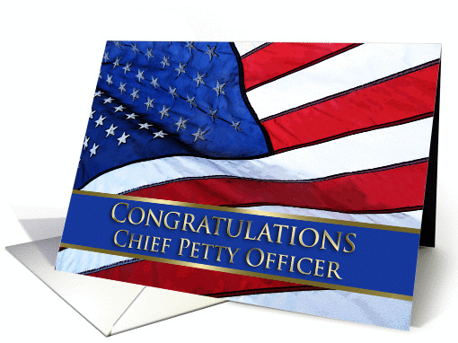 Congratulations Chief Petty Officer card (853344)