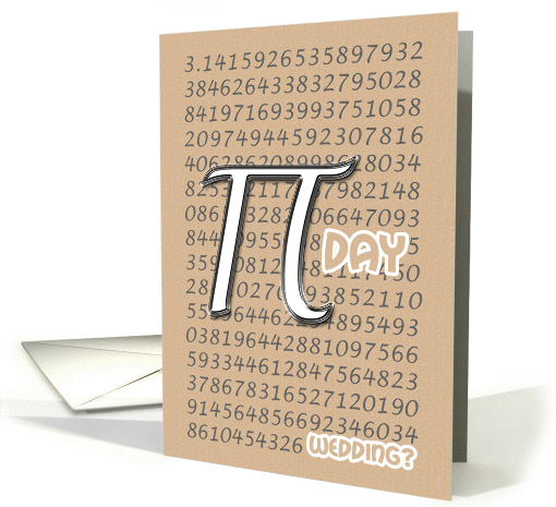 Congratulations Wedding on Pi Day 3.14 March 14th Silver... (910696)
