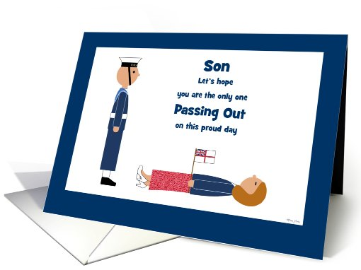 Son Passing Out Congratulations British Navy Humour Customizable card