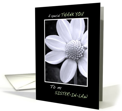 Thank you Sister-in-law for being my Bridesmaid card (411146)