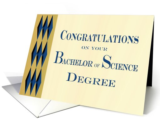 Graduation Congratulations Bachelor of Science card (737407)