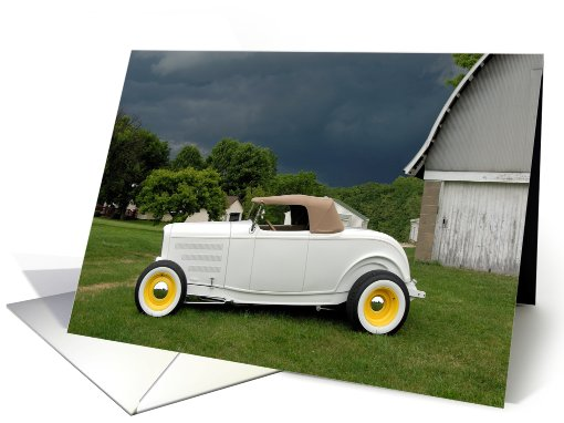 White Roadster card (307161)