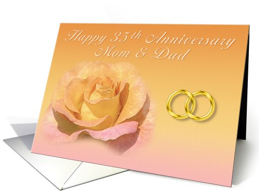 35th Anniversary Mom and Dad card (407648)