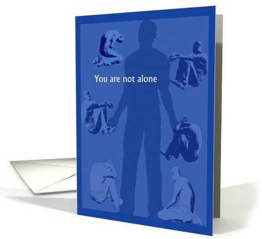 Encouragement -You are not alone- card (428369)