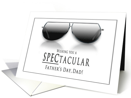 Father's Day - Dad, Sunglasses, Gray and White card (1479132)