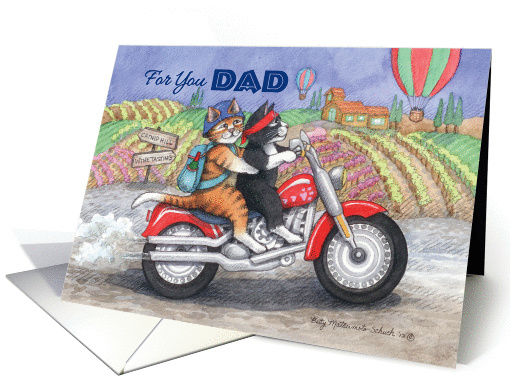 For You Dad Happy Father's Day Cats (Bud & Tony) card (1053239)