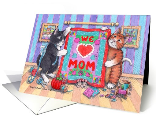 Cats & Mother's Day Quilt (Bud & Tony) card (604811)