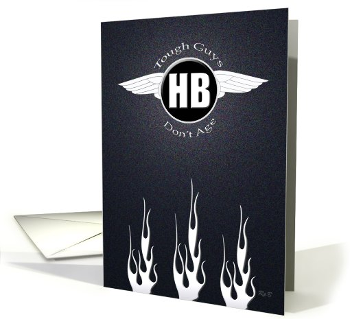 Flames and Wings : Happy Birthday card (822551)