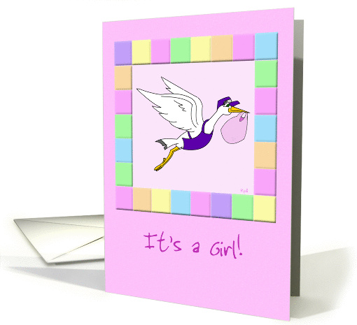 It's a Girl: Stork Delivery Service card (899941)