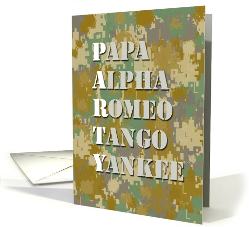 Camouflage Party: Military Birthday card (630575)