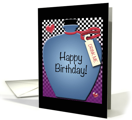 Happy Birthday - Drink Me Wonderland Bottle card (1428294)