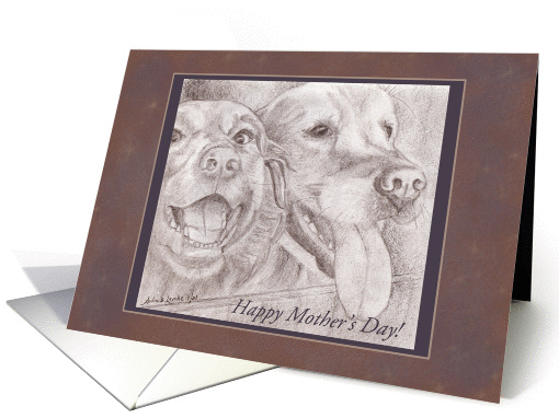 Happy Mother's Day - Eager Dog Buddies Drawing card (924268)