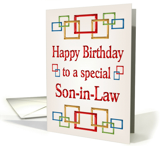 Happy Birthday Son-in-Law, Colorful Links card (878025)