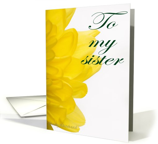 Happy Sister's Day (yellow petals) card (423255)