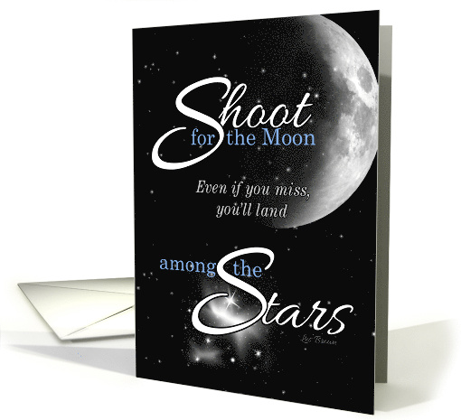 Encouragement Follow Your Dreams Moon and Stars card (1034767)