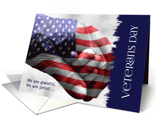 Veterans Day Generations Red, White and Blue card (1385154)