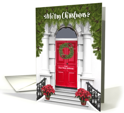from Our New Address Merry Christmas Door with a Wreath card (499825)