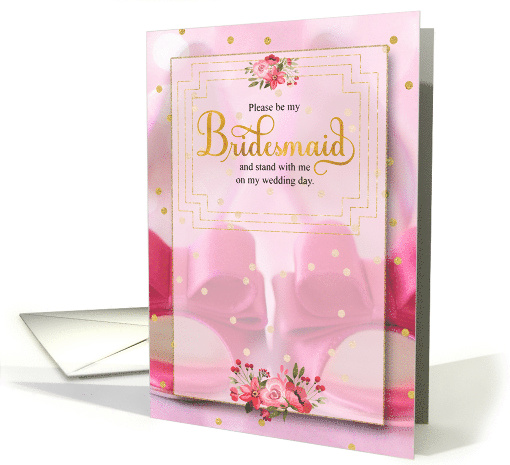 Bridesmaid Request Pink Cheetah Print with Stiletto card (713356)