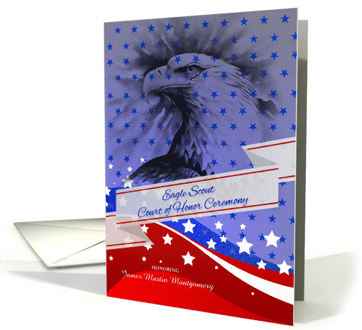 Eagle Scout Court of Honor Ceremony Custom Invitation card (959279)
