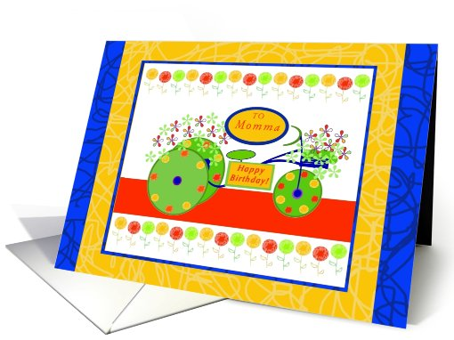 Momma, Happy Birthday, Bike with Flowers card (821390)