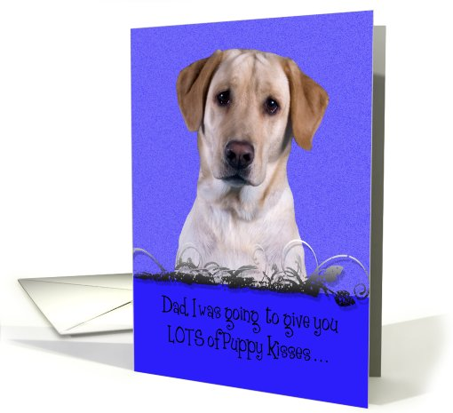 Father's Day Licker License - featuring a yellow Labrador... (809710)